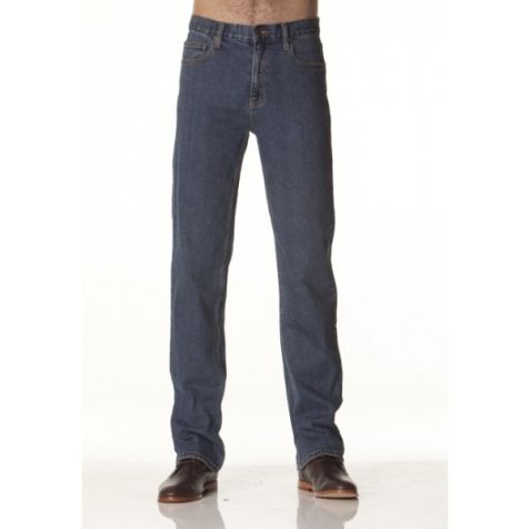 Riders by LEE Men's Straight Leg Stretch Denim Jeans in STONEWASH