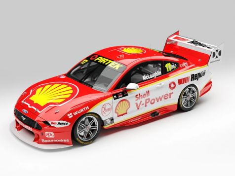 1:43 Authentic Collectables 2020 Ford Mustang GT #6 Cam Waters OTR Supersprint Livery