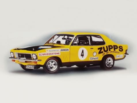 "Autoart 1973 LJ-XU1 Torana Dick Johnson - ""ZUPPS"" Race car # 4 - Car Hand Signed on The Roof By Dick Johnson"