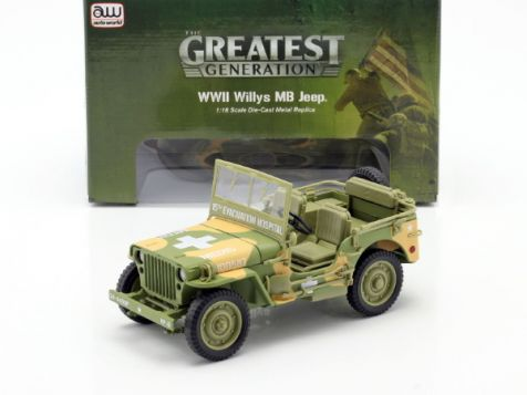 1:18 AUTOworld 1941 Willys MB Medical Jeep 4x4 US Army