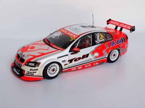 """1:18 Classic Carlectables Holden Racing Car HRT 2007 Mark Skaife's Holden VE Commodore """"Mobil"""" #2 diecast model"""