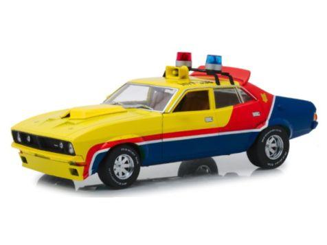 1:18 DDA Yellow Police Interceptor MFP Ford XB Falcon Mad Max
