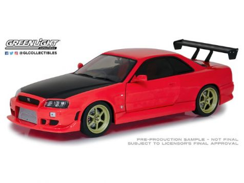 1:18 Greenlight 1999 Nissan Skyline GTR (R34) in Red 19052
