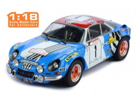 1:18 IXO 1973 Tour de Course Rally Winner Alpine Renault A110 1800 #1 Nicolas/Vial