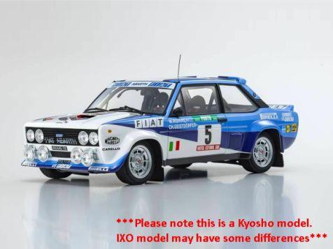 1:18 IXO 1980 Portugal Rally World Champion Fiat 131 Abarth #5 Rohrl/Geistdorfer