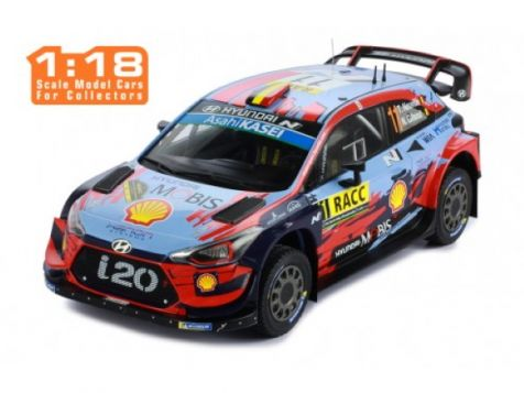 1:18 IXO 2019 Catalunya Rallye Winner Hyundai i20 Coupe WRC #11 Neuville/Gilsoul