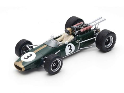 1:18 Spark 1967 French GP Winning Brabham BT24 #3 Jack Brabham