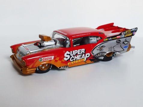 1:24 Classic Carlectables Ben Bray's '04-'05 1957 Supercheap Auto Chev Top Doorslammer Champion