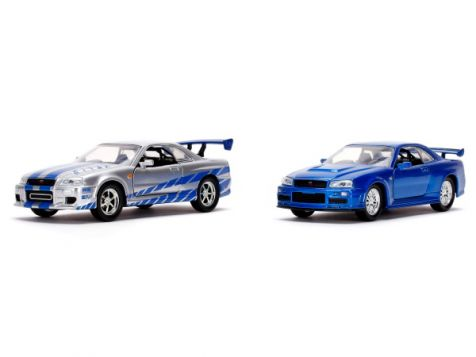1:32 Jada Fast & Furious Brian's Nissan Skyline GT-R 2-Car Set