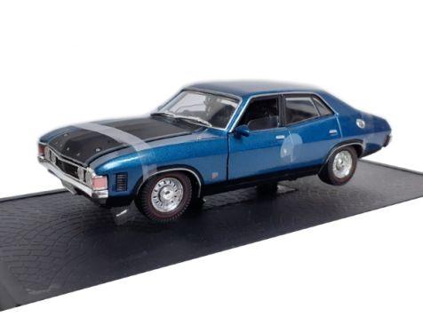 1:32 OZ Legends 1973 Ford Falcon XA GT Sedan in Cosmic Blue