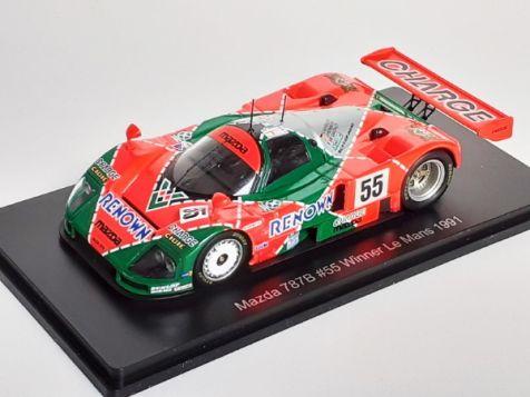 1:43 1991 Le Mans Winning Mazda 787B #55 Weidler/Herbert/Gachot