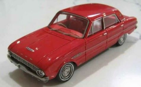 1:43 ACE Model Cars 1962 Ford XL Falcon Futura Sedan in Red