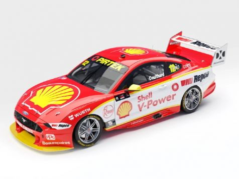 PREORDER 1:43 Authentic Collectibles 2020 Ford Mustang GT #12 Fabian Coulthard