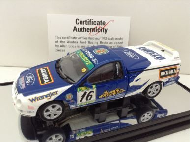 1:43 Classic Carlectables Akubra Ford Racing Brute Ford Falcon AU XR8 Ute #16 Driver: Allan Grice