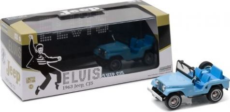 """1:43 Greenlight Elvis 1963 Jeep CJ5 Sierra Blue as seen in """"Tickle Me"""" 86310"""