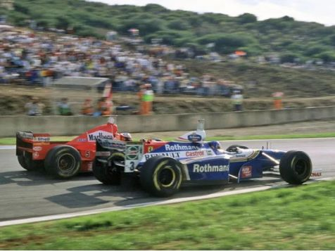 1996 F1 World Champion Williams Renault FW18 #5 Damon Hill (Dirty Version)