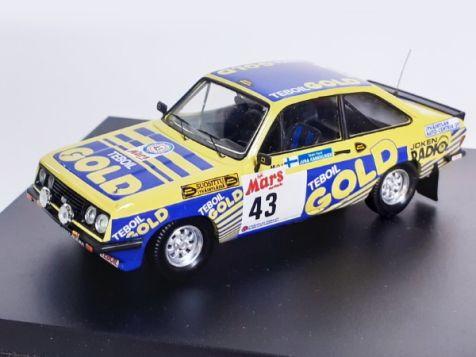 1:43 Trofeu Ford Escort Mk II RS2000 #43 1979 1000 Lakes Rally Kankkunen Hantunen