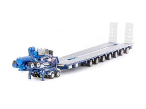 1:50 Drake 2x8 Dolly & 7x8 Steerable Low Loader in Metallic Blue