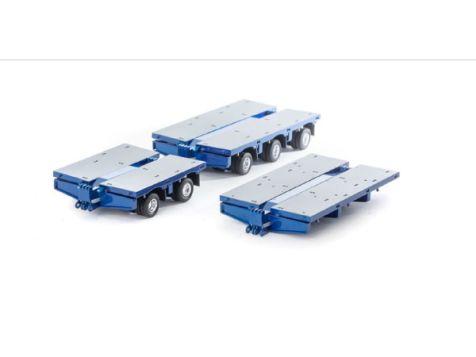 1:50 Drake Steerable Low Loader Accessories Kit in Metallic Blue