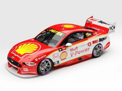 PREORDER 1:64 Authentic Collectibles 2020 Ford Mustang GT #17 Scott McLaughlin Championship Winner