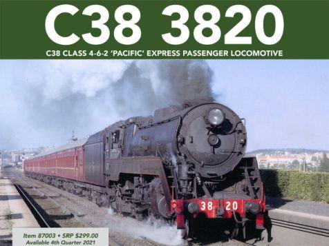 PREORDER 1:87 C38 Class 4-6-2 'Pacific' Express Passenger Locomotive #3820 HO Gauge