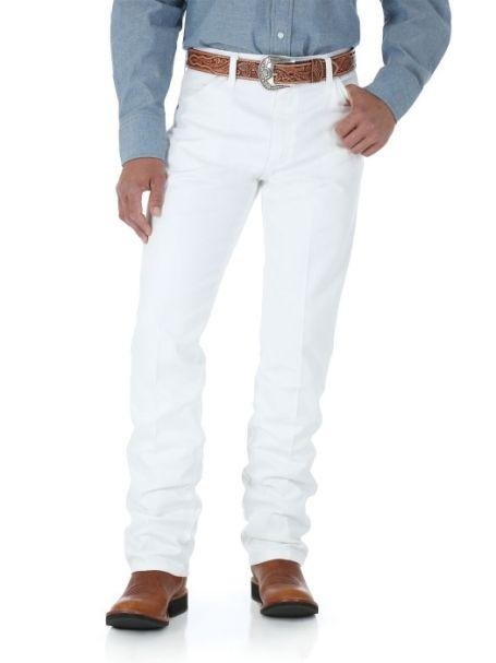 "Men's Wrangler Original Cowboy Cut Heavyweight Denim Jeans WHITE 36"" Leg Length"