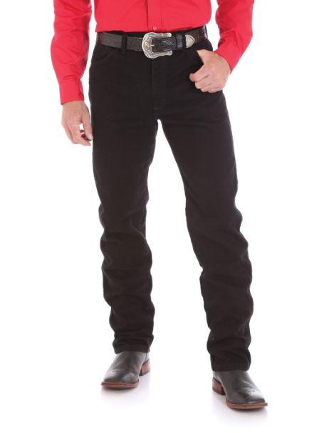 Men's Wrangler Original Cowboy Cut Heavyweight Denim Jeans SHADOW BLACK