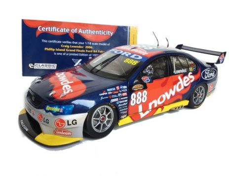 1:18 Classic Carlectables Craig Lowndes 2006 Phillip Island Grand Finale Ford BA Falcon