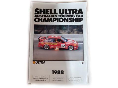 Shell Ultra Ford Sierra #17 Dick Johnson 1988 ATCC Poster