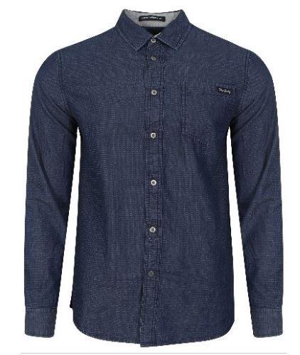 Men's Tokyo LaundryGatiss Collar Shirt INDIGO