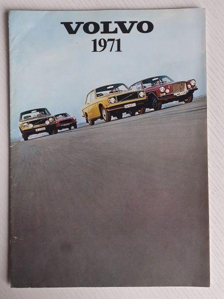 1971 Volvo Original Sales Brochure English Printed in Denmark