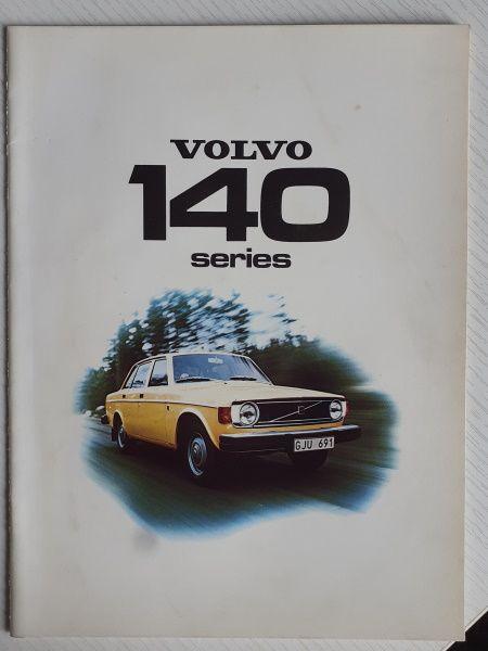 1974 Volvo 140 Series Original Sales Brochure English Printed in Sweden