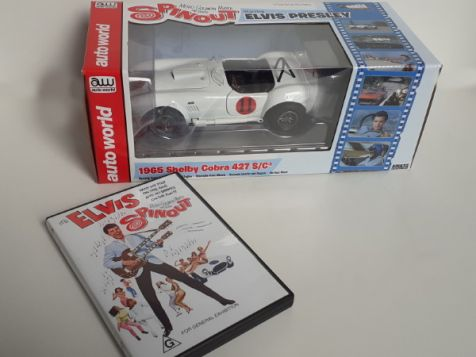 1:18 AutoWorld 1967 Shelby Cobra 427 S/C Elvis Spinout + Movie