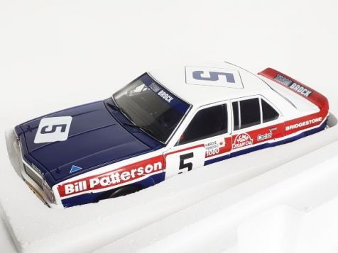 1:18 AutoArt Holden Torana LH SL/R 5000 Patterson/Brock Team #5 1974 - Bill Patterson  - Hand Signed on The Roof