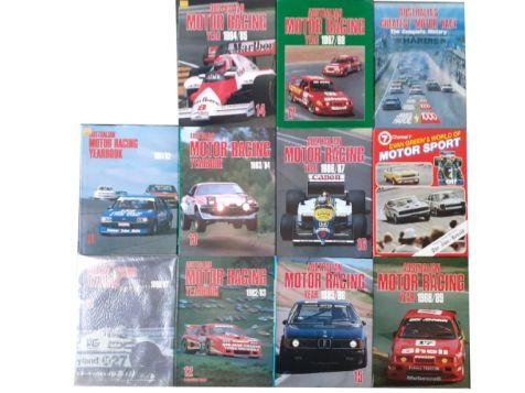 Australian Motor Racing Yearbook 1980->89 + Evan Green's World Of Motorsport + Australia's Greatest Motor Race