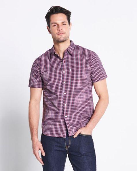 Men's Levi's Short Sleeve One-Pocket Collar Shirt AURA ORANGE
