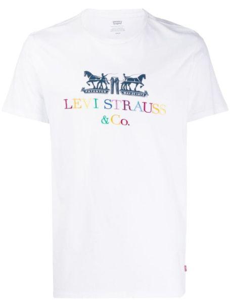 Men's Levi's 2-Horse Graphic Tee 90s White
