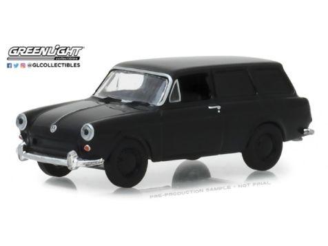 1:64 Greelight 1965 Volkswagen Type 3 Panel Van - Black Bandit