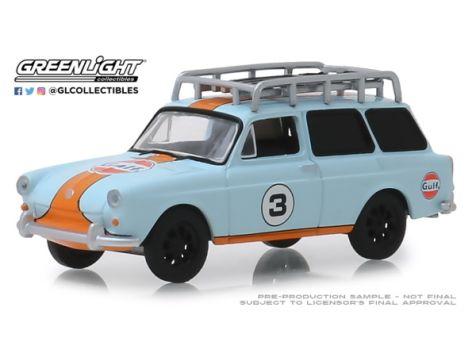1:64 Greenlight 1964 Volkswagen Samba Bus w/ Surfboards