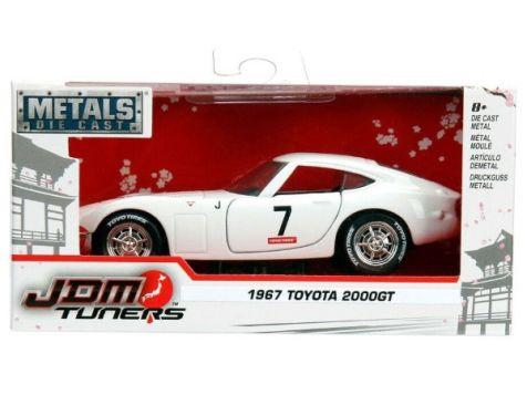 1:32 Jada JDM Tuners 1967 Toyota 2000GT White w/Blue Stripe 30375