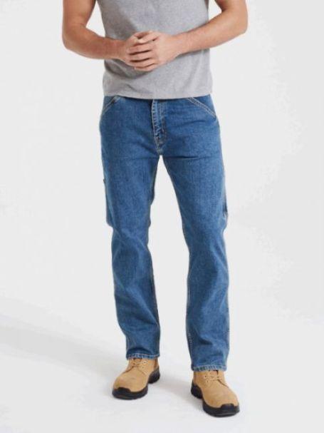 Men's Levi's 505 Regular Fit WORKWEAR UTILITY Denim Jeans STONEWASH