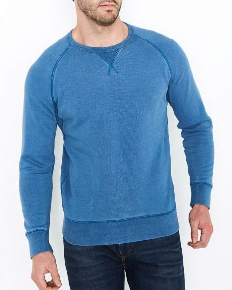 Men's Levi's Crew 3 Long Sleeve Shirt/Jumper LIGHT INDIGO