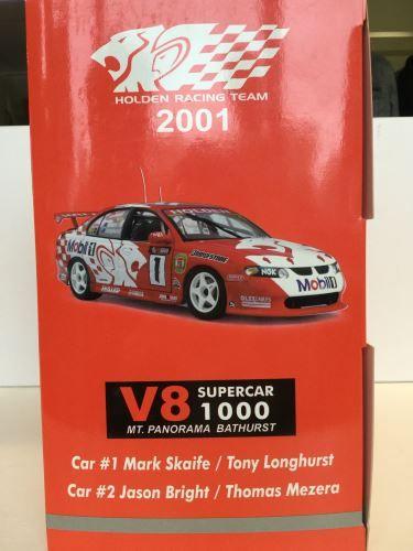 1:18 AUTOart Holden Racing Team HRT VX M.SKAIFE/T.LONGHURST #1 & J.BRIGHT/T.MEZERA #2 Bathurst 2001 with Certificate