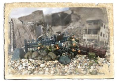 1:32 Forces of Valor Figurine- 1st Infantry Division - Normandy 1944 Military diecast model