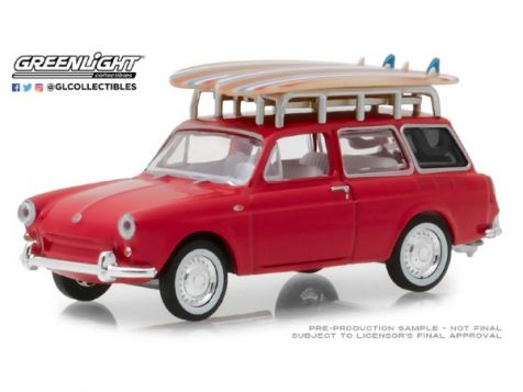 29988 1:64 Greenlight 1967 Volkswagen Beetle - Bardahl #87 Fittipaldi