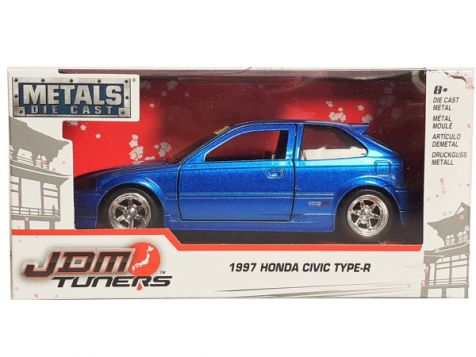 1:32 Jada JDM Tuners 1997 Honda Civic Type-R Metallic Red 30972