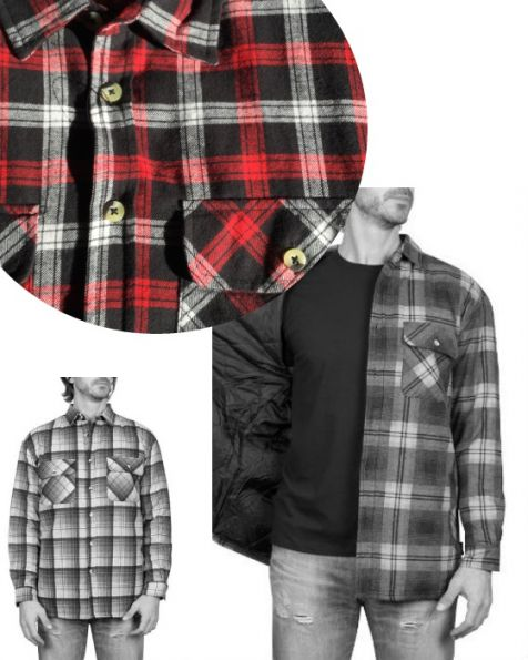Adventureline Men's Quilted Flannelette Shirt - Ferrary Check