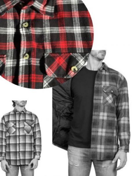Adventureline Men's Quilted Flannelette Shirt - Ferrary Check