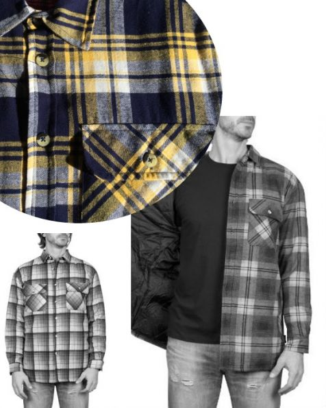 Adventureline Men's Quilted Flannelette Shirt - Yolk Check
