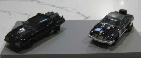 1:64 ACE Model Cars Mad Max ACE Model Cars Interceptor 2 and Enemy's Landau Twin Set